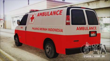 Indonesian PMI Ambulance para GTA San Andreas esquerda vista