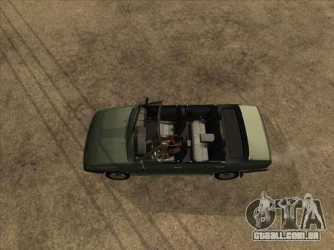 VAZ 21099 Conversível para GTA San Andreas vista traseira