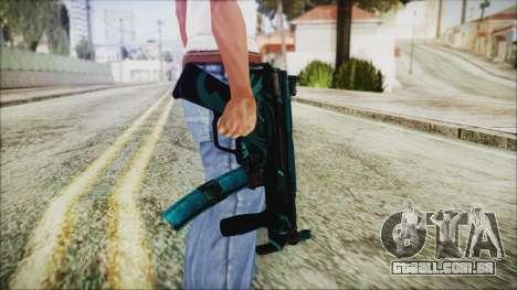 MP5K Black Blue Abstract para GTA San Andreas terceira tela