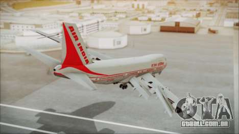 Boeing 747-237Bs Air India Kanishka para GTA San Andreas esquerda vista