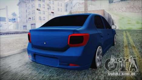 Dacia Logan 2015 para GTA San Andreas esquerda vista