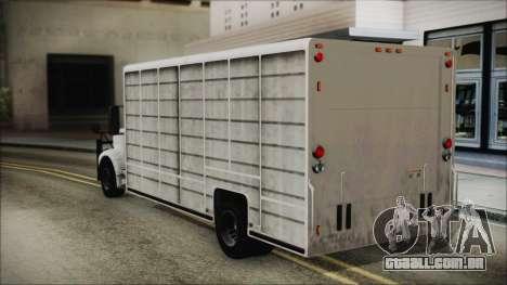 Indonesian Benson Truck In Real Life Version para GTA San Andreas esquerda vista