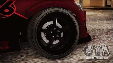 Toyota GT86 Speedhunters para GTA San Andreas traseira esquerda vista
