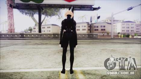 Blonde Domino from Deadpool para GTA San Andreas terceira tela