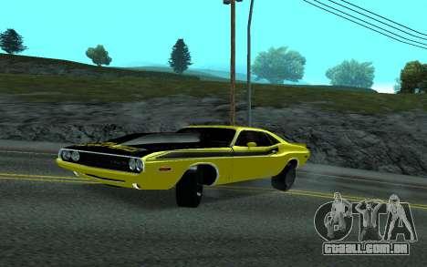 Dodge Challenger Tunable para GTA San Andreas traseira esquerda vista