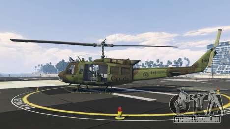 GTA 5 Bell UH-1D Huey Royal Canadian Air Force segundo screenshot