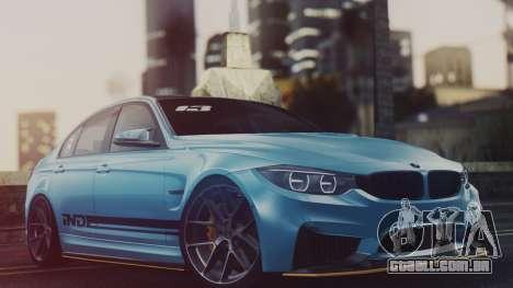 BMW M3 F30 IND EDITION para GTA San Andreas traseira esquerda vista