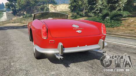 GTA 5 Ferrari 250 California 1957 traseira vista lateral esquerda