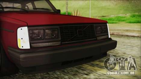 Volvo Turbo 242 Evolution Turbo 1983 para GTA San Andreas vista superior
