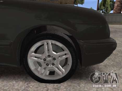 Mercedes-Benz E420 para GTA San Andreas vista superior