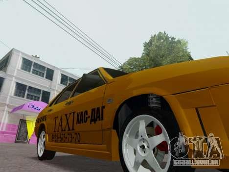 VAZ 21099 Tuning Russian Taxi para GTA San Andreas vista interior