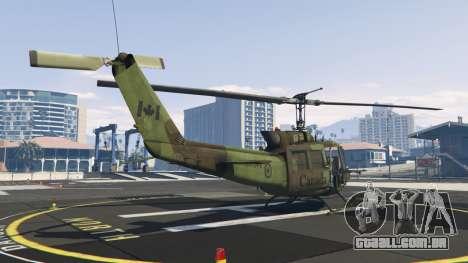 GTA 5 Bell UH-1D Huey Royal Canadian Air Force terceiro screenshot