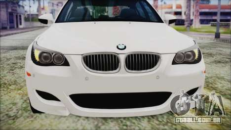 BMW M5 E60 2009 para vista lateral GTA San Andreas