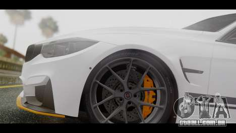 BMW M3 F30 IND EDITION para GTA San Andreas vista traseira