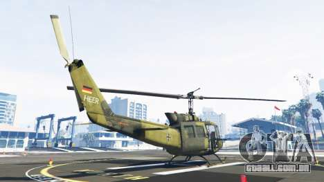 GTA 5 Bell UH-1D Huey Bundeswehr terceiro screenshot