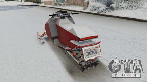 GTA 5 Snowmobile traseira vista lateral esquerda