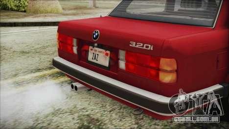 BMW 320i E21 1985 SA Plate para GTA San Andreas vista traseira