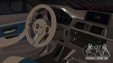 BMW M4 Stance 2014 para GTA San Andreas vista direita