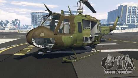 Bell UH-1D Huey Royal Canadian Air Force para GTA 5