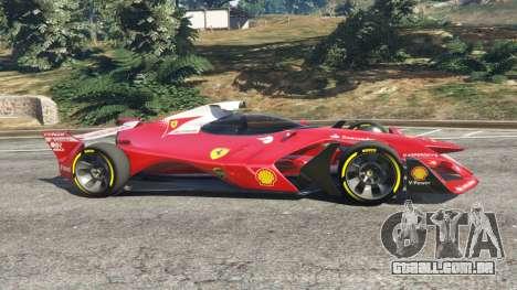 GTA 5 Ferrari F1 Concept vista lateral esquerda