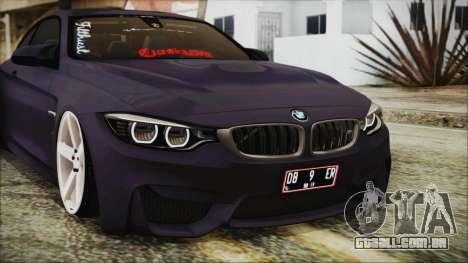 BMW M4 Stance 2014 para GTA San Andreas vista interior
