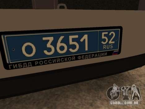 VAZ 2110 DPS para vista lateral GTA San Andreas