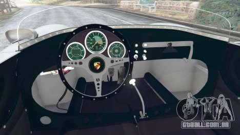 GTA 5 Porsche 550A Spyder 1956 traseira direita vista lateral