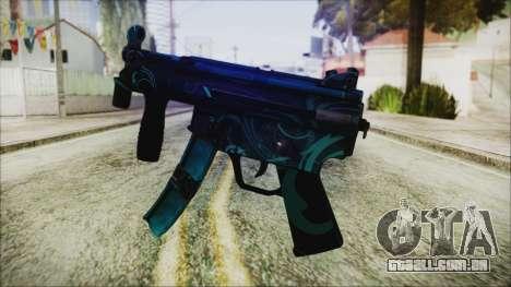 MP5K Black Blue Abstract para GTA San Andreas segunda tela