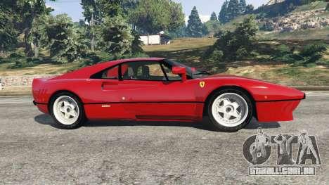 GTA 5 Ferrari 288 GTO 1984 vista lateral esquerda