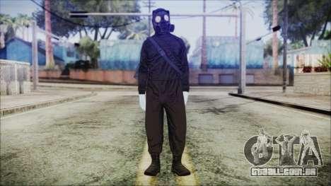 GTA 5 Online The Heist Gasmask White para GTA San Andreas segunda tela