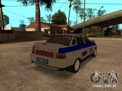 VAZ 2110 DPS para GTA San Andreas traseira esquerda vista