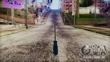 Screwdriver HD para GTA San Andreas segunda tela