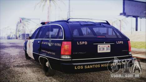 Chevrolet Caprice Station Wagon 1993-1996 LSPD para GTA San Andreas esquerda vista
