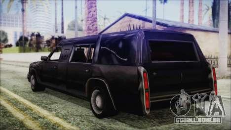 The Romeros Hearse para GTA San Andreas esquerda vista