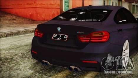 BMW M4 Stance 2014 para GTA San Andreas vista superior