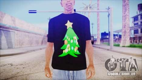 T-Shirt Christmas Tree para GTA San Andreas terceira tela