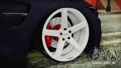 BMW M4 Stance 2014 para GTA San Andreas traseira esquerda vista