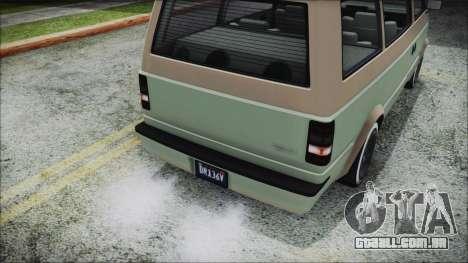 GTA 5 Declasse Moonbeam Custom IVF para GTA San Andreas vista traseira