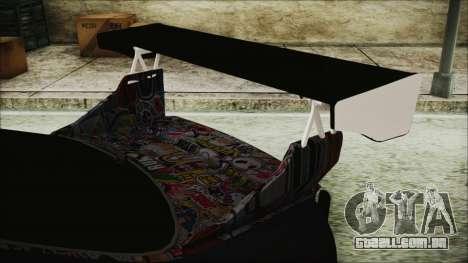 Nissan Skyline R33 Widebody v2.0 para GTA San Andreas vista traseira