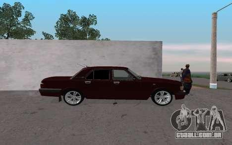 GAZ 31105 para GTA San Andreas traseira esquerda vista