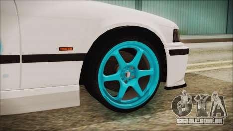 BMW M3 E36 Frozen para GTA San Andreas traseira esquerda vista