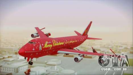Boeing 747-100 Merry Christmas para GTA San Andreas