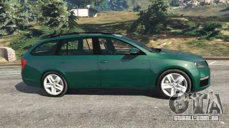 GTA 5 Skoda Octavia VRS 2014 [estate] vista lateral esquerda