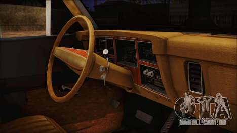 Dodge Dart 1975 para GTA San Andreas vista direita