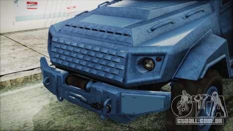 GTA 5 HVY Insurgent Van IVF para GTA San Andreas vista direita