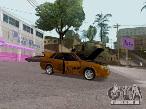 VAZ 21099 Tuning Russian Taxi para GTA San Andreas vista traseira