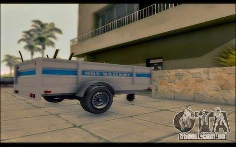 GTA V Utilitário Reboque para GTA San Andreas esquerda vista