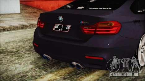 BMW M4 Stance 2014 para GTA San Andreas vista traseira