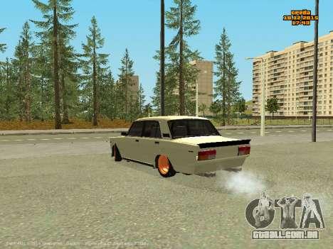 VAZ 2107 Carro para GTA San Andreas vista traseira