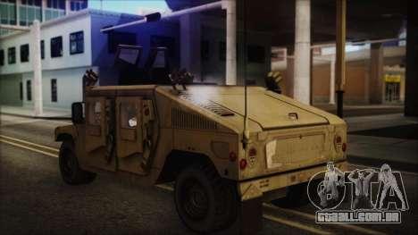 HMMWV Patriot para GTA San Andreas esquerda vista